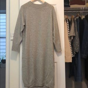 Muji wool sweater dress